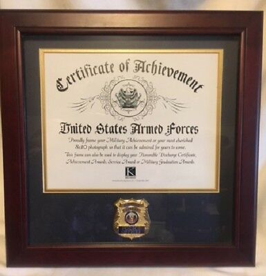 New Mahogany Police Law Enforcement Certificate Frame
