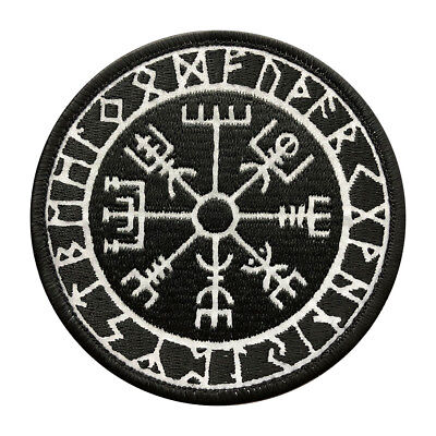 Reflective Viking Compass Vegvisir Tactical Morale Hook Patch (REF1)