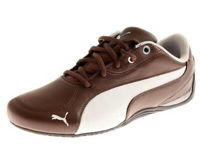 20a1215a0b43d9 PUMA DRIFT CAT 4 Women s Leather Sneakers Shoes White-Silver-Chateau ...