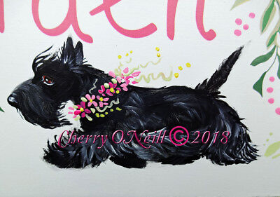 Scottish Terrier Welcome to my Garden Sign Scottie Summer Paradise