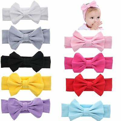 inSowni 9PCS/Lot Solid Bunny Ear Headband Bulk for Baby Girl Kids Toddlers Hair