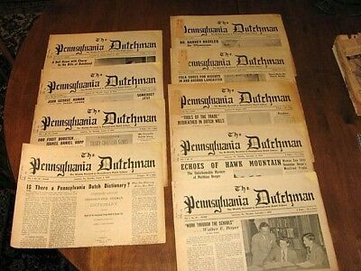 """1949/50 The Pennsylvania Dutchman/ """"Weekly"""" Devoted to Pa-Dutch Culture. Scarce"""