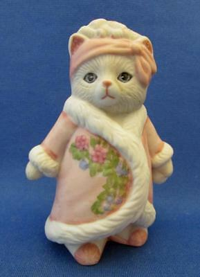 Kitty Cucumber Priscilla Porcelain Cat Figurine - Schmid 1987