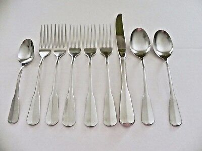 Mixed Lot 9pc Marked Oneida Colonial Fiddle Style dinner forks tea spoons knife