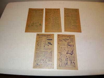 (5) Straight Arrow Cards, Cards # 4 & 12 from Book 2 & #2,16 & 20 from Book 4