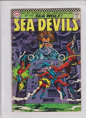 SEA DEVILS #33 G/VG, #35 Good+ Murphy Anderson cvr, DC '67, low cost 2 issue lot