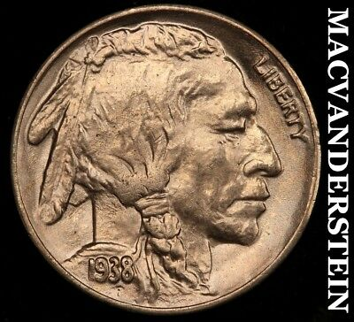 1938-D Buffalo Nickel - Choice Gem  Brilliant Uncirculated+++++!!  #a2896
