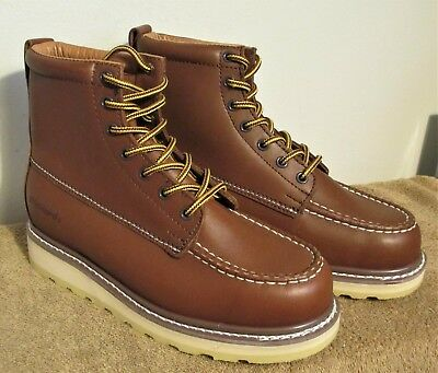 fc42c6770d3 BRAND NEW! MENS Vintage SEARS DIE HARD Brown LEATHER Work BOOTS 84994 Size  7 D