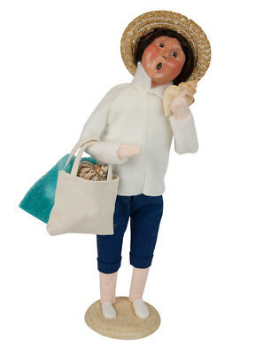 Byers Choice Nautical 2018 Coastal Collection Mother Figure w/Beach Bags Shells