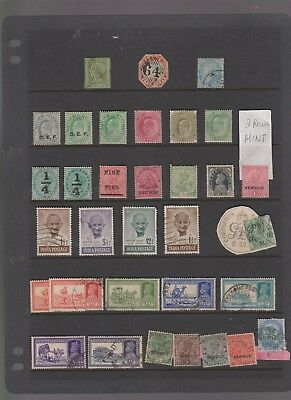 INDIA OLD FROM 1st STAMPS 2 PAGES