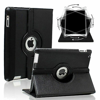 Shockproof Smart Leather 360 Rotating Stand Wake/Sleep Case iPad Air 1 2 Mini
