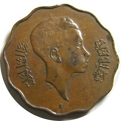 elf Iraq Kingdom 10 Fils  AH 1362  AD 1943 I  Regency for Faisal II