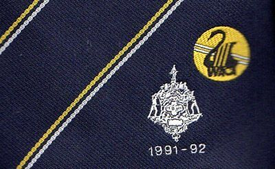 WACA Cricket Association Neck Tie 1991-1992 Official Vintage Western Australia