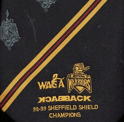 WACA Western Warriors 98-99 Sheffield Shield Champions Tie Official Australia