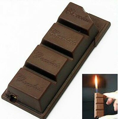 Novelty Chocolate Style Cigarette Cigar Smoking Pipe Butane Gas Lighter Gift
