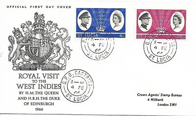 St Lucia 1966 Royal Visit cover
