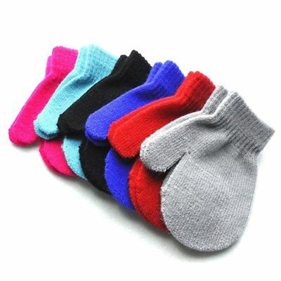 Autumn Winter Warm Boby Boy Girl Gloves Toddler Kids Soft Knitting Mittens TU