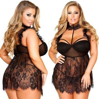 Womens Sexy Lace Floral Dress Babydoll Lingerie Nightwear Sleepwear 3XL-5XL Lot
