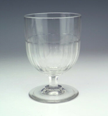 Antique English Glass - Facet Sided Rummer - Lovely!