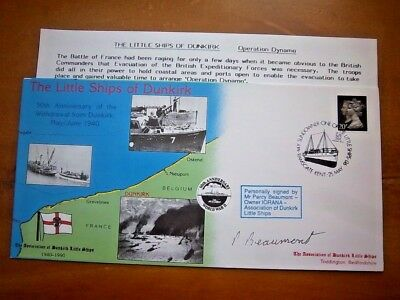 1990 Mr Percy Beaumont Signed The Little Ships Of Dunkirk Cover
