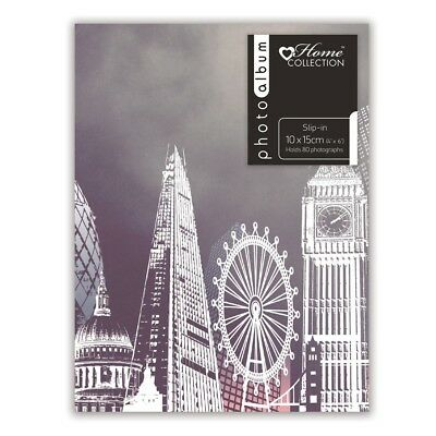 "London Eye Big Ben Design Slip In Photo Album Holds 80 4 x 6"" Photographs TROV"