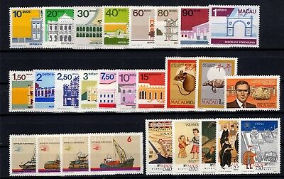 P74657/ Macao / Lot 1982 – 1989 Neuf * / Mh Full Sets 151 €