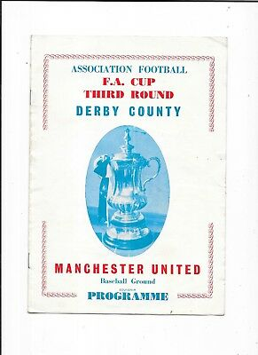 Pirate Derby County v  Manchester United  Fa Cup 3rd Round 22/1/1966