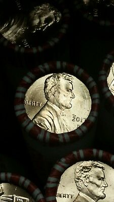 10 Rolls Of 2017D Uncirculated & Unsearched Federal Reserve 500 Pennies Shield