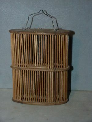 Vintage CRICKET CAGE insect, bamboo, double decker Chinese