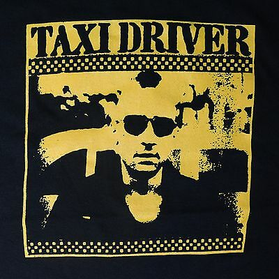 Taxi Driver ***SMALL*** 1976 movie t-shirt Yellow on Black Robert De Niro