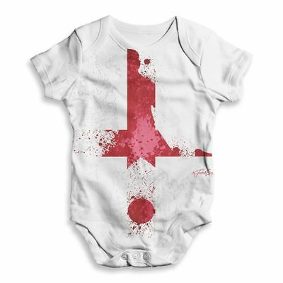 """Dirty Fingers /""""Born to Score for England/"""" Baby Subli Bodysuit Football Fan Gift"""