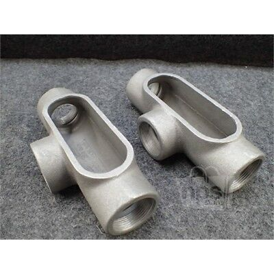 "Lot of 2 Crouse-Hinds T 57 Conduit Body, 1-1/2"", Form 7, Aluminum"