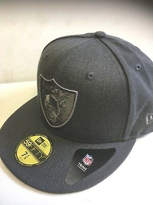 A17 NEW ERA OFFICIAL NFL OAKLAND RAIDERS TONAL GRAPHITE Baseball Cap * Var Sizes