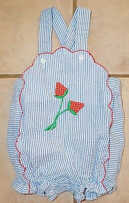 VTG 70s SMALL STEPS Baby Girl  Sunsuit One Piece Romper Newborn  USA