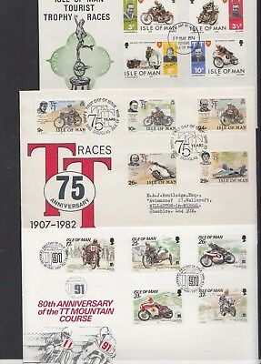 Isle of Man 1966 73 74 1982 1987 1991 1993 1996 1997 1998 2001 TT Motorcycle FDC
