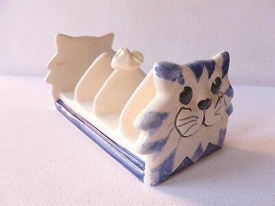 Alexander Ceramics of Wales Cat & Mouse Toast Rack