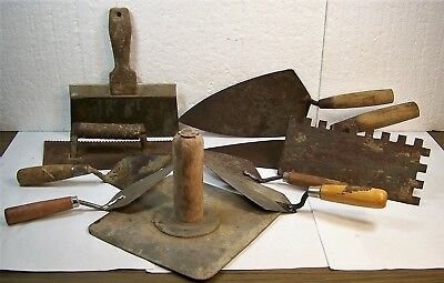 Lot Masonry Tools Notched Hand Trowels Spreaders Concrete Brick W ROSE Barco