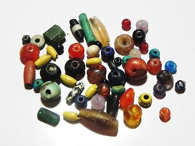 Zurqieh - As5963- Ancient Egypt,  Lot Of 54 Beads. New Kingdom - Byzantine.