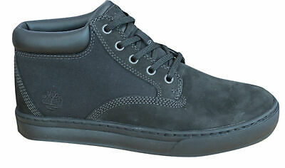 15f31631ced3 Timberland Dauset Chukka Leather Mens Boots Lace Up Ankle Shoes Black A1HGZ  D26