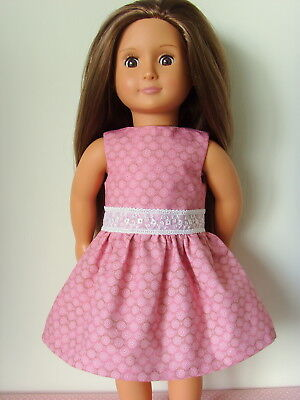 """Summer Dress ~ Pink Dots ~ for 18"""" Our Generation type Dolls Clothes"""