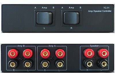2 Two Amplifiers Receivers to 1 Pair Speakers Selector Switch Switcher Combiner