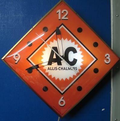 Vintage  Pam Lighted Advertising AC ALLIS CHALMERS  Clock