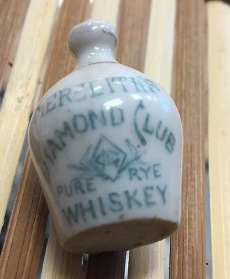Meredith's Rye Diamond Club Whiskey Advertising Miniature Jug Liverpool Ohio