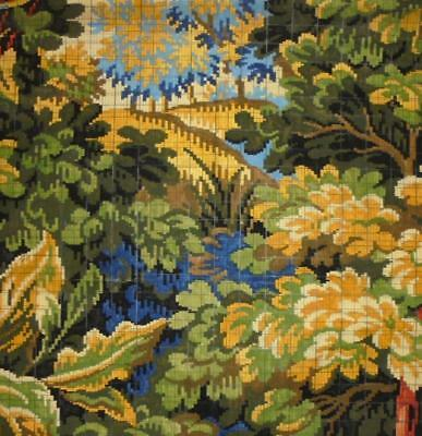 BEAUTIFUL ANTIQUE HAND PAINTED FRENCH FABRIC DESIGN CARTOON c1920s