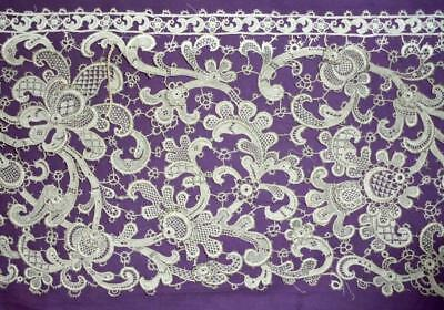 1.32m BEAUTIFUL 19th CENTURY VENETIAN GROS POINT LACE EDGING, PICOTS & FRILLS