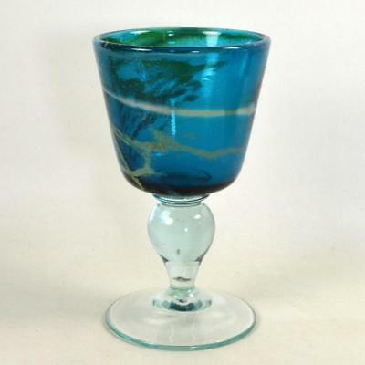 Maltese MDINA Sea and Sand Large Goblet - Signed - 1977 (b)