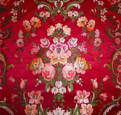 EXQUISITE 19th CENTURY FRENCH SILK BROCADE, ROSES, SPITALFIELDS LYON, PROJECTS 2