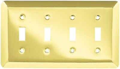 Brainerd (126530) Plated Brass Quad Switch Wall Plate - Lot of 2