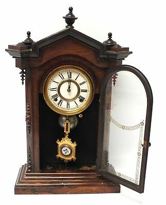 Vintage LUCCA Eight Day Mantle Clock With Pendulum NOT WORKING  - F20