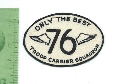 US Air Force USAF  76th Troop Carrier Squadron   patch  printed